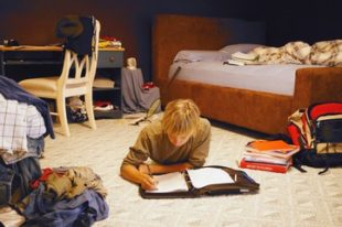 Teenage bedroom mess