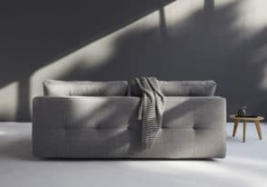 Supremax DEL sofa bed in twist charcoal grey view of the back detail