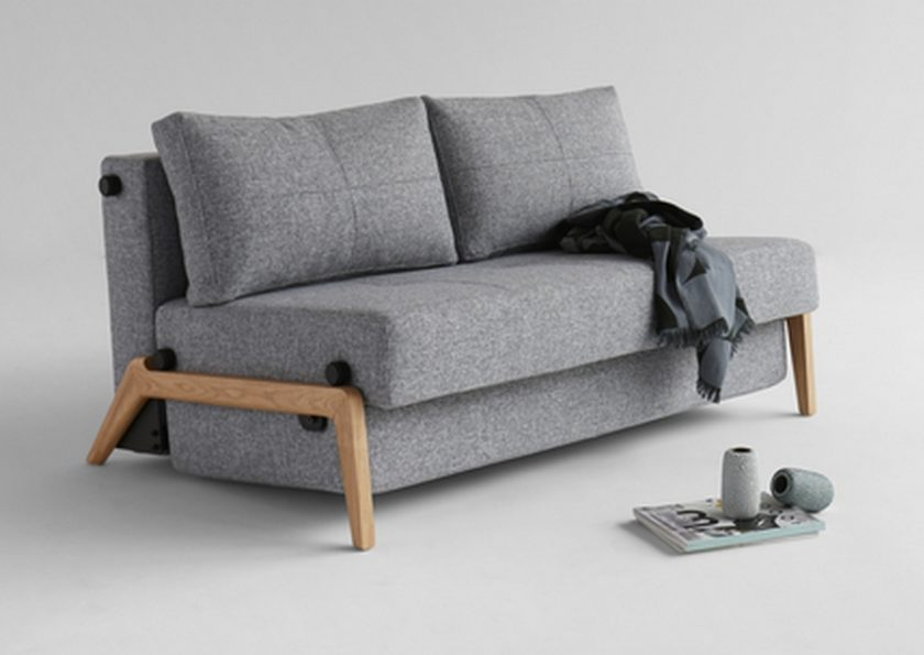 Cubed 140 Sofa Bed Wooden Legs