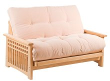 Akino oak double Sofa bed in sofa position
