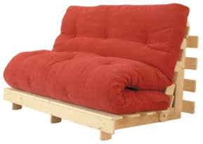 Classic futon sofa bed in the sofa position