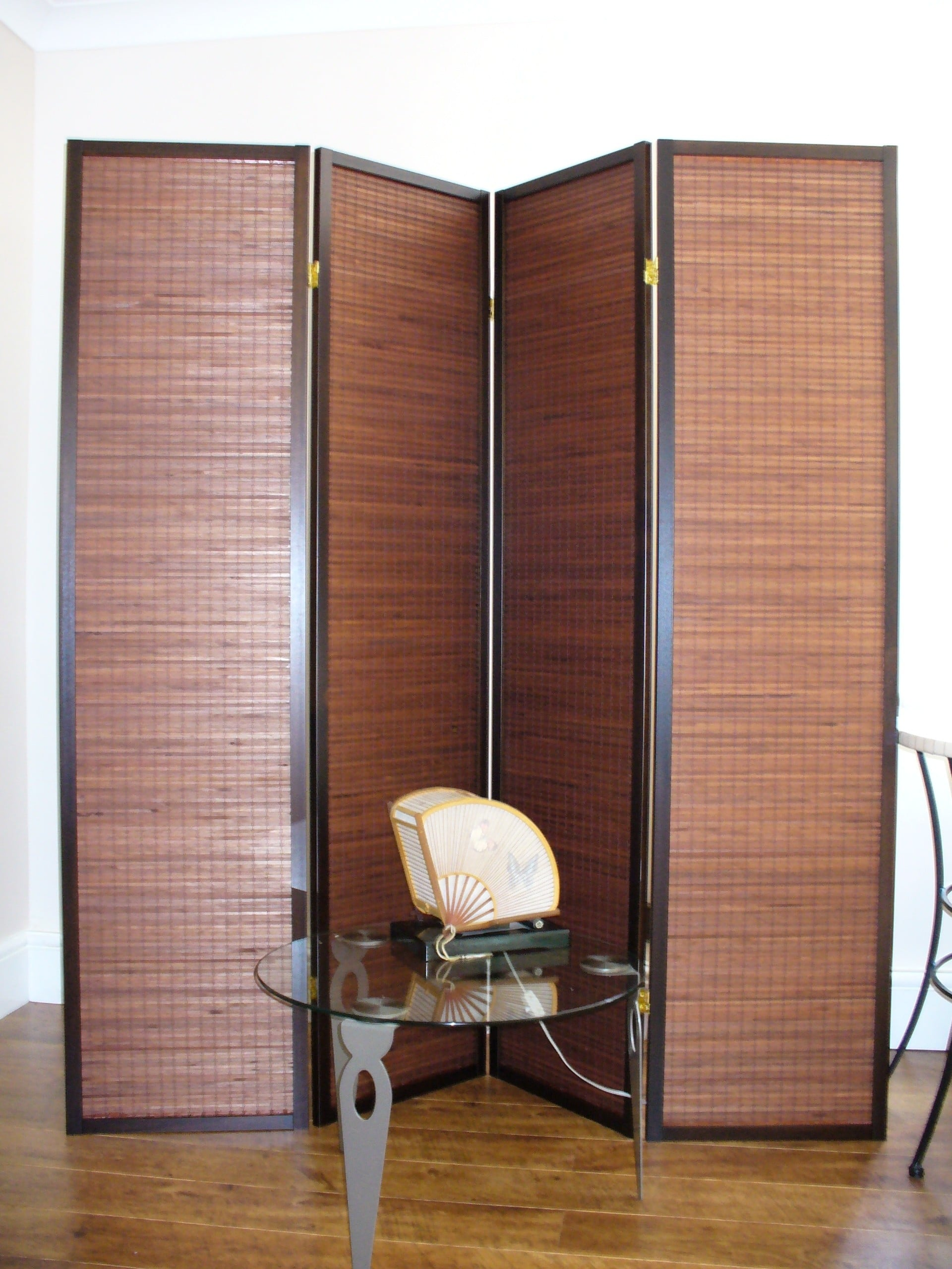 Formosa Walnut 4 panel Room Divider