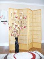 Matsu Natural 4 panel Room Divider