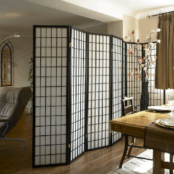 Shoji Room Divider Or 4 Panel Screen Has A Traditional Design