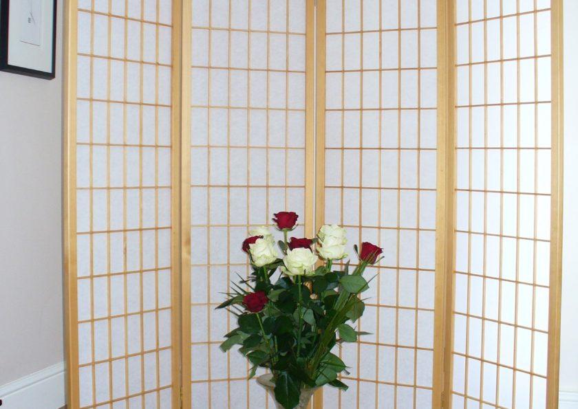 Shoji Room Divider 4 Panel