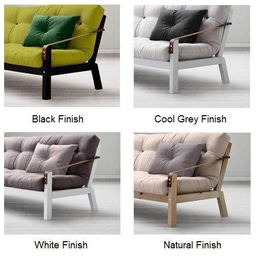 Poetry Sofa Bed var Finishes