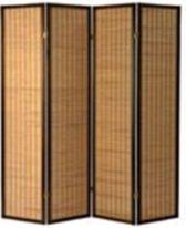 Kobe Walnut 4 panel Room Divider