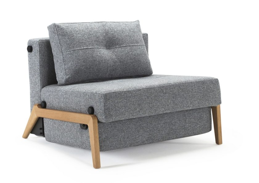 Cubed 90 Chair Bed Wooden Legs