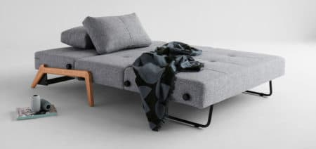 Cubed 160 Sofa Bed Wooden Legs
