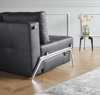 Cubed 160 Sofa Bed Alu Legs