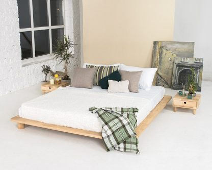 Cone Solid Beech Bed 140 cm one only