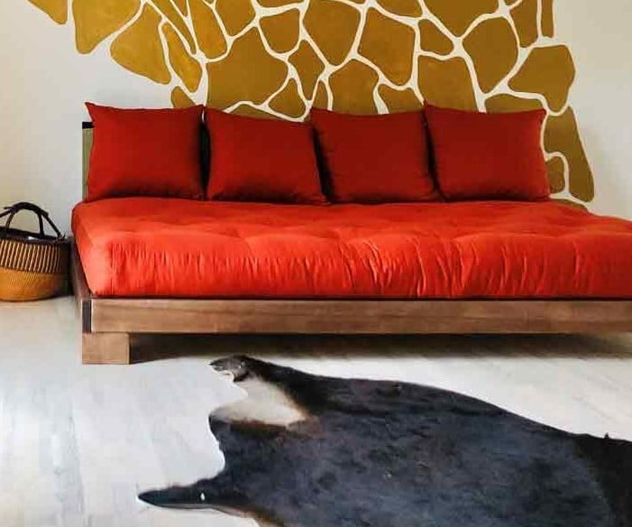 Cube Solid Beech Bed